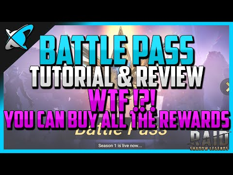 RAID: Shadow Legends | BATTLE PASS REVIEW |  You can BUY all the rewards...WTF?