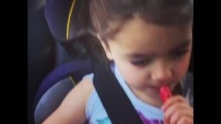 Carpool Karaoke from the car seat - cute kid singing Ed Sheeran - Shape of You
