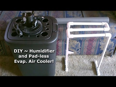 "DIY Humidifier & Evap. Air Cooler! ~ A ""Padless"" Evap. Air Cooler! - can be solar powered!"