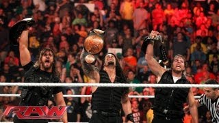 The victorious Shield returns to Raw after capturing the United States and WWE Tag Team Titles at Ex