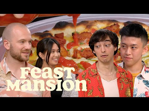 Feast Mansion S1: E#10 - Joji and Rich Brian Have a Pizza Battle with Sean Evans (Part 2) | Feast Mansion