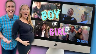 Virtual Gender Reveal Party at Home 💻👶🍼