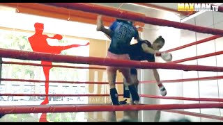 Nerdy girl beats up guys at the gym - Maxmantv
