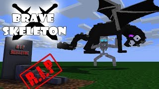 Monster School : RIP BRAVE SKELETON - Sad Minecraft Animation