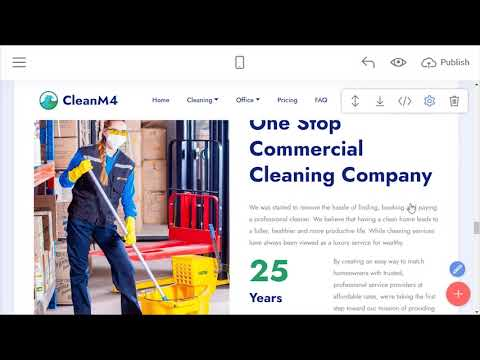 Cleaning Service Page Template | CleanM4