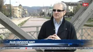 Alija Hafizović - Autor pjesme Sarajevo ljubavi moja - Dnevnik TV1 06.04.2012.