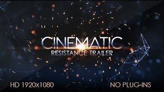 After Effects Template: Resistance Cinematic Trailer