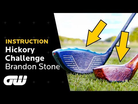 How Far Can a TOUR PRO Hit a Hickory Driver? | The Hickory Challenge | Golfing World