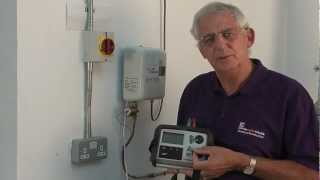 Earth fault loop impedance test