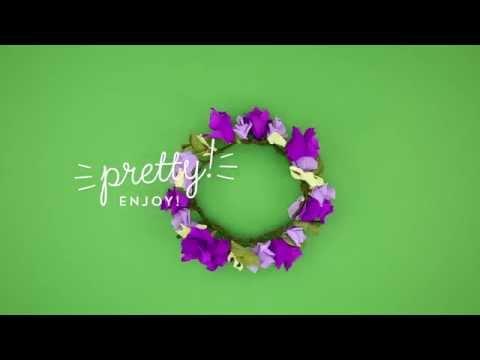Elmer's CraftBond Hot Glue DIY Inspiration – Paper Flowers