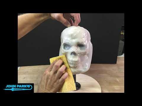 Milk Jug Glow Skull build timelapse @adafruit @johnedgarpark #adafruit