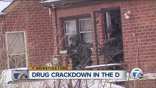 Detroit Police crack down on drug dealers