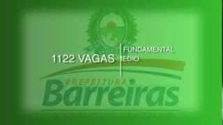 PROCESSO SELETIVO PREFEITURA DE BARREIRAS-BA 2014 | 1122 VAGAS