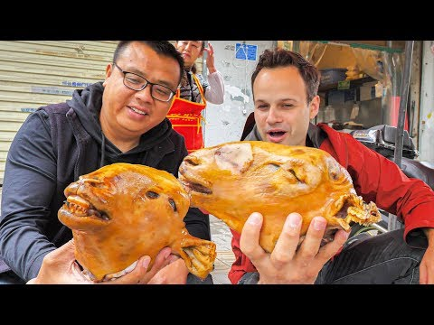 EXTREME Street Food in China – WHOLE Lamb Head (HALAL) + MOST INSANE Chinese Street Food in China!