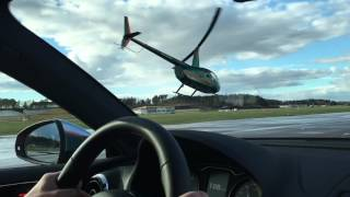Robinson R44 Helicopter Vs. Audi A3