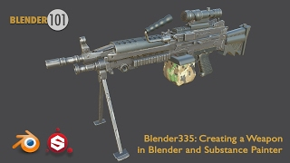 Creating a Weapon with Blender and Substance Painter - Promo