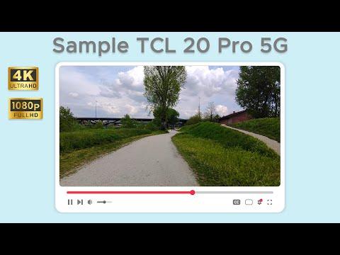 Test di ripresa da TCL 20 Pro 5G in 4K
