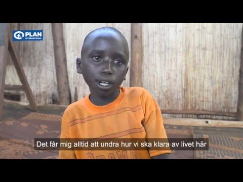 Eric, 12 år, bor i världens tredje största flyktingläger