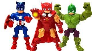PJ Masks transformed into an avengers defeat the villain Romeo❤️ RACHAMAN TOY