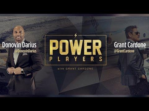 Power Players NFL Player Donovin Darius and Grant Cardone photo