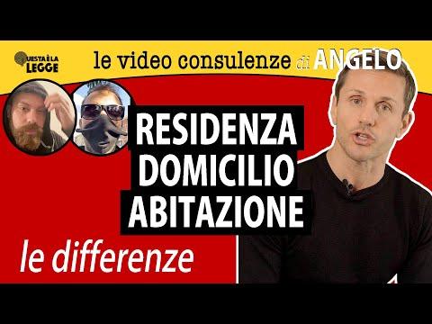 RESIDENZA - DOMICILIO - ABITAZIONE: le differenze   avv. Angelo Greco