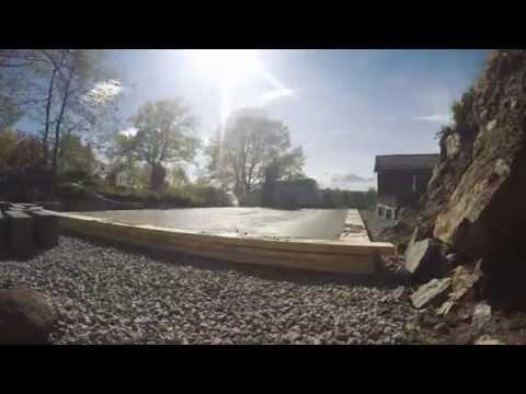 Timelapse - Støyping av grunnmur