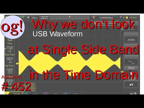 Why We don't look at Single Side Band in the Time Domain (#452)