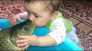 Cutie pie kissing fish