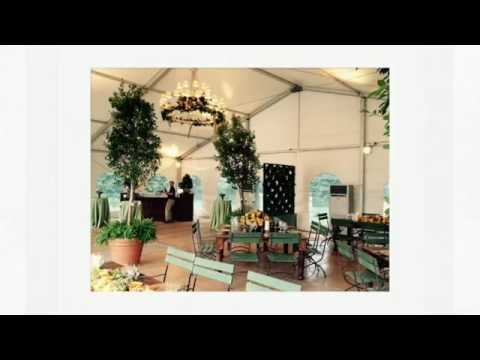 A Tented Poolside Corporate Event