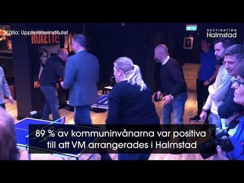 Bordtennis-VM hyllas av både besökare och Halmstadbor