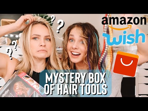 I found a box of WEIRD hair tools I've had for years … Honest review – Kayley Melissa