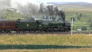 46233 Duchess of Sutherland Powers the CME over shap at Scout Green and Penrith 23 07 16