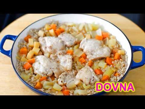 Тушеная курица с перловой крупой Dovna Enteprises