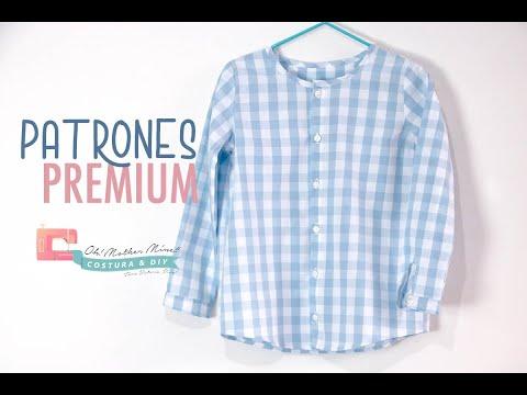 PATRONES: Camisa vichy para niños (tallas 1 – 12 años)