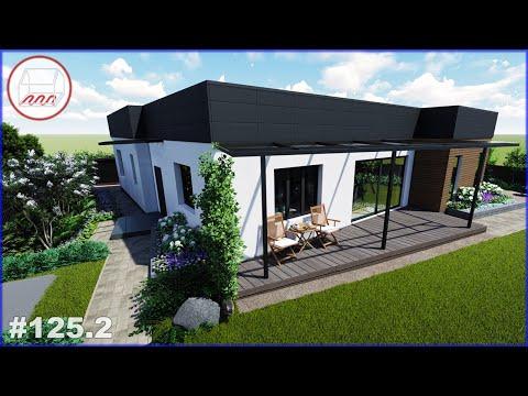 Дом с плоской крышей в Парголово 10 лет спустя - планировка участка 12 соток