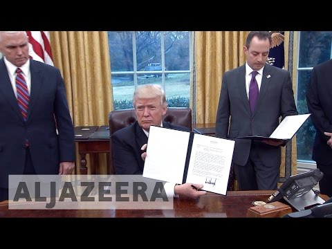 Trump withdraws US from TPP deal
