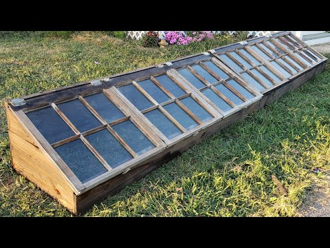 Making cheap cold frame grow boxes for winter gardening
