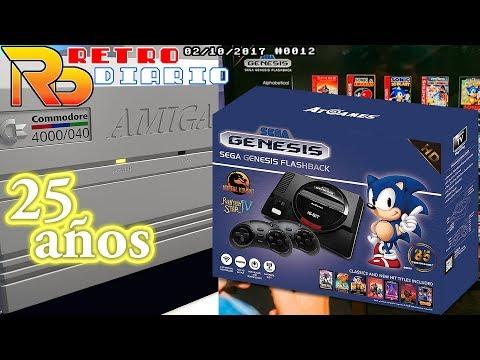 RetroDiario Noticias Retro (02/10/2017) #0012 - Sega Megadrive Flashback, 25 Años Amiga 4000 y más