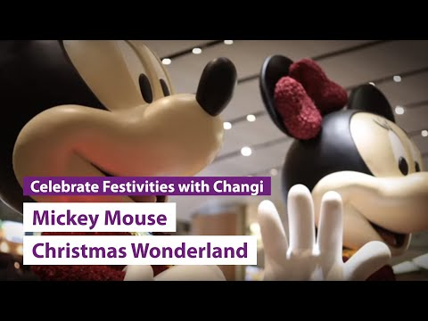 Mickey Mouse Christmas Wonderland at Changi Airport!