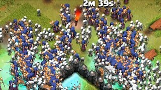 Clash of clans - 300 witches and 300 dragons raid (Mass gameplay)