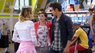 """Violetta - León no quiere que Vilu se vaya de su garage y cantan """"mi pasión"""" (03x59)"""