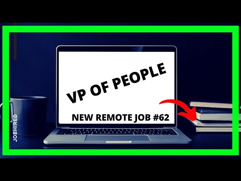 NEW REMOTE JOBS - NOW HIRING! Remote VP OF PEOPLE Jobs | JOBHIRED #62