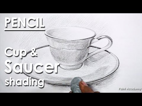 Pencil Drawing : Cup & Plate/Saucer | Still life drawing