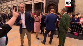 The Duchess of Cambridge dances with Paddington Bear