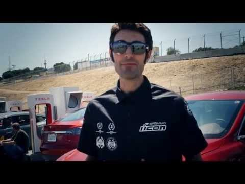 Brammo Empulse vs. Tesla Model S at Laguna Seca Raceway