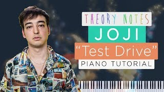 How to Play Joji - Test Drive   Theory Notes Piano Tutorial