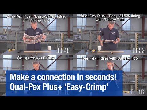 Beat the Clock - Make a Qual-Pex Plus+ 'Easy-Crimp' connection in seconds!