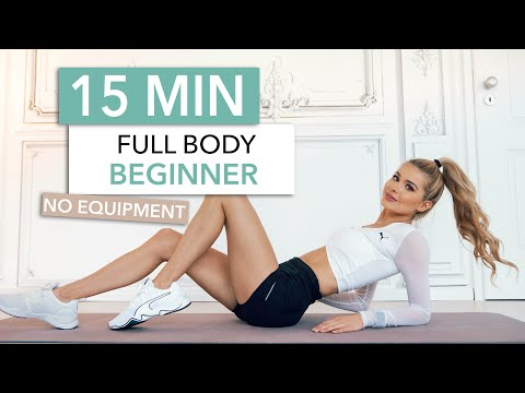 15 MIN FULL BODY WORKOUT / Beginner Friendly - Let's Train Together / No Equipment I Pamela Reif