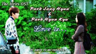 Park Jang Hyun & Park Hyun Kyu - Love is... (Heirs OST) HD sub español