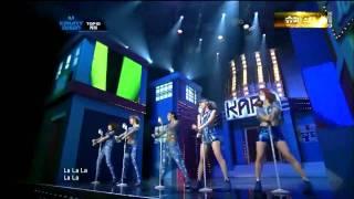 【HD繁中字】110915 KARA - STEP Live @ Comeback Stage